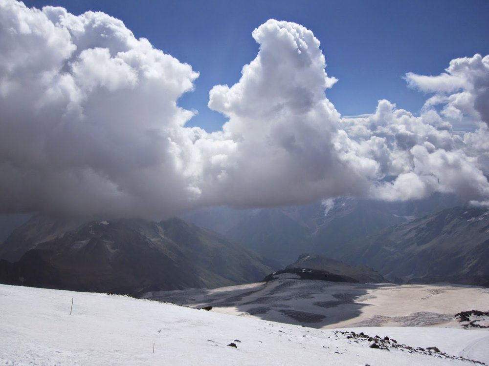 Clouds Mount Elbrus