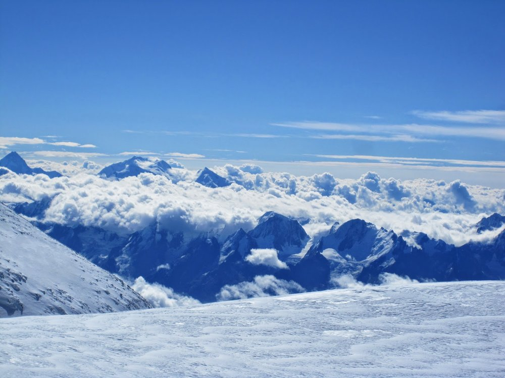 Another view from the summit of Mount Elbrus