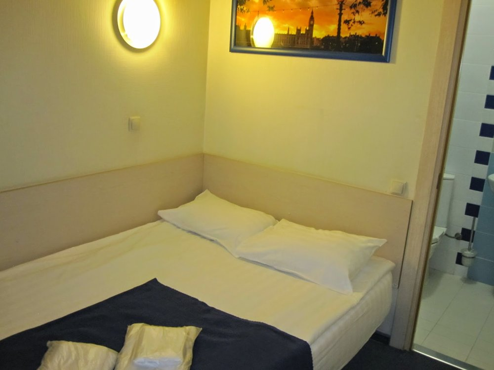My capsule hotel room in Moscow Airport. This was worth every cent!