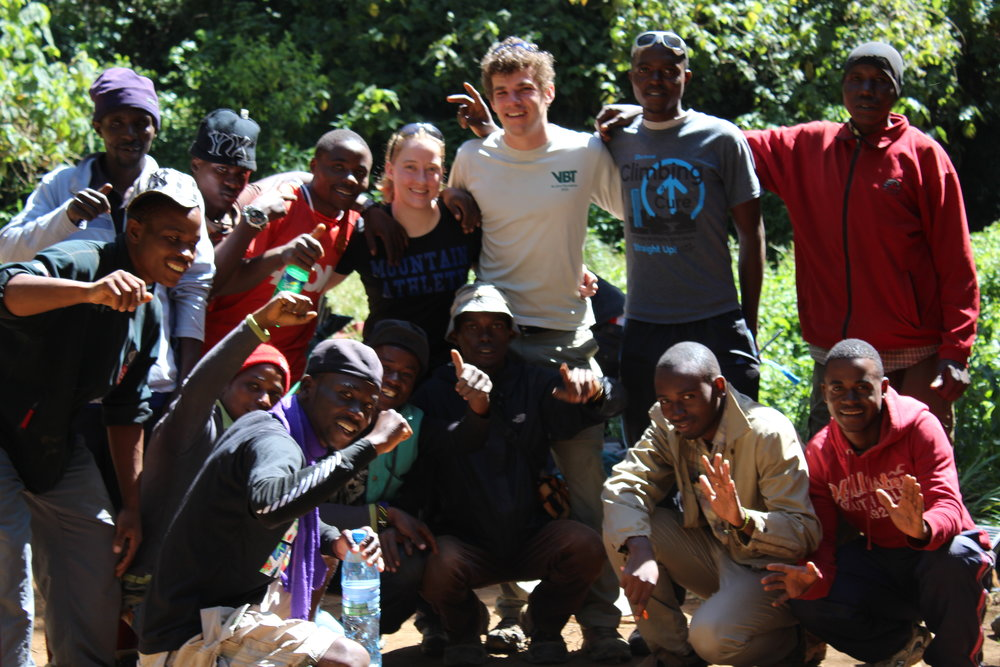 Our guides and porters for our Kilimanjaro climb.