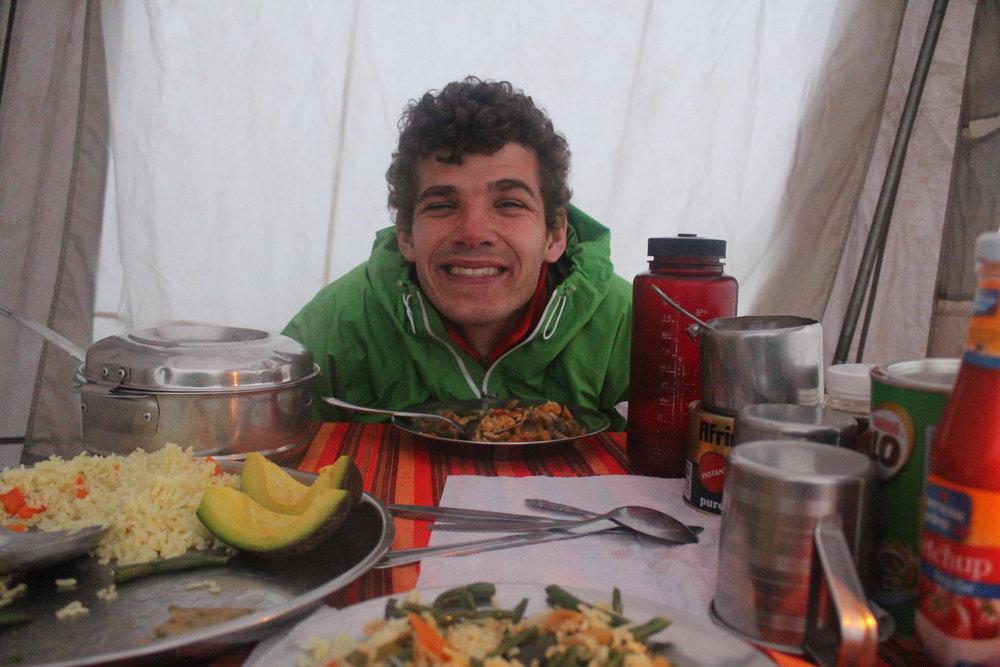 Dinner at Shira Camp 2