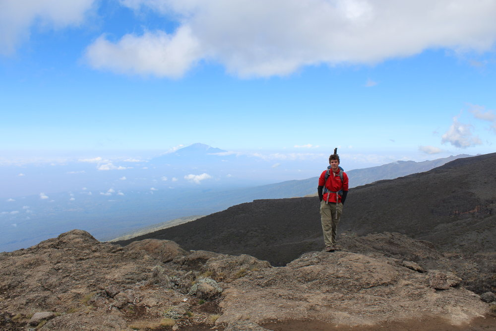 View of Mount Meru from the top of the Barranco Wall