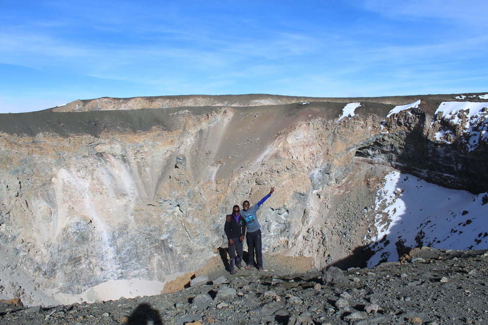 The third rim of Kilimanjaro's Crater