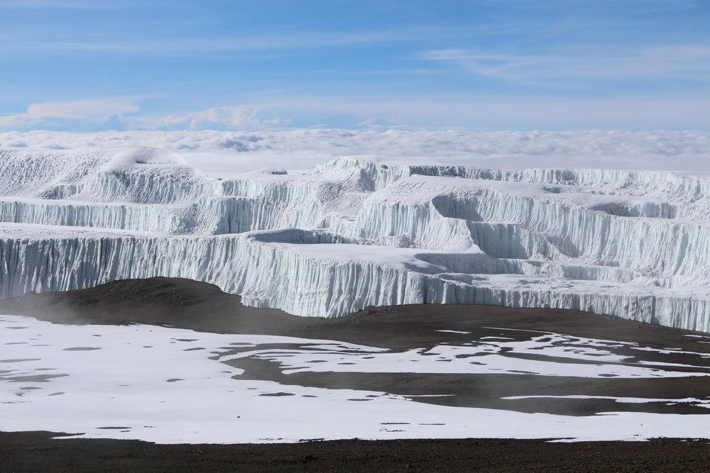 Exploring the glaciers on Mount Kilimanjaro