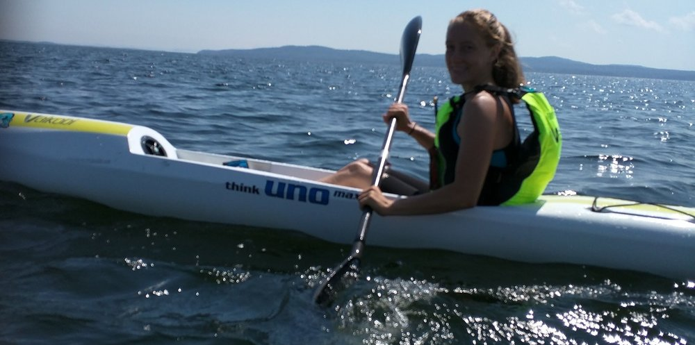 Sarah paddling her Think Uno Max
