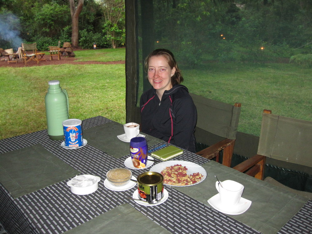 Snacks before dinner on our camping safari