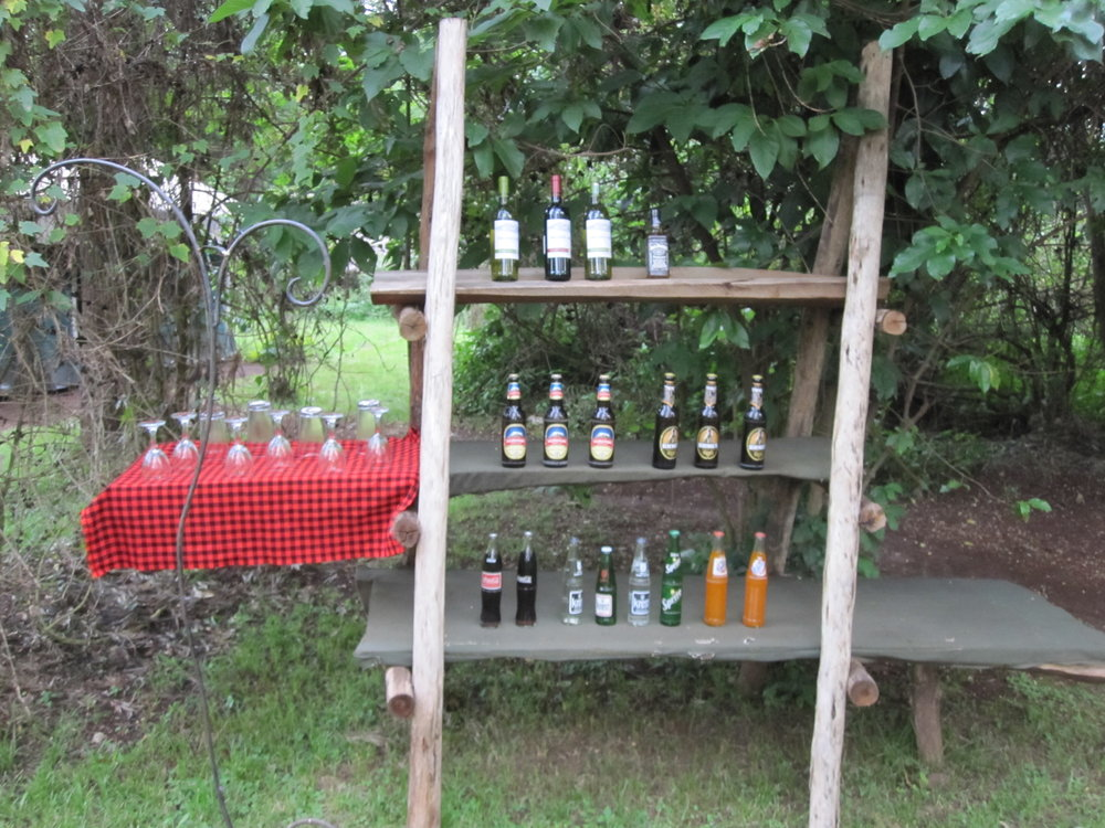 Beer display on our camping safari
