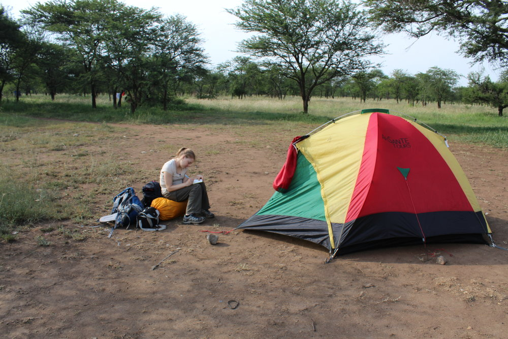 Our campsite in the Serengeti.