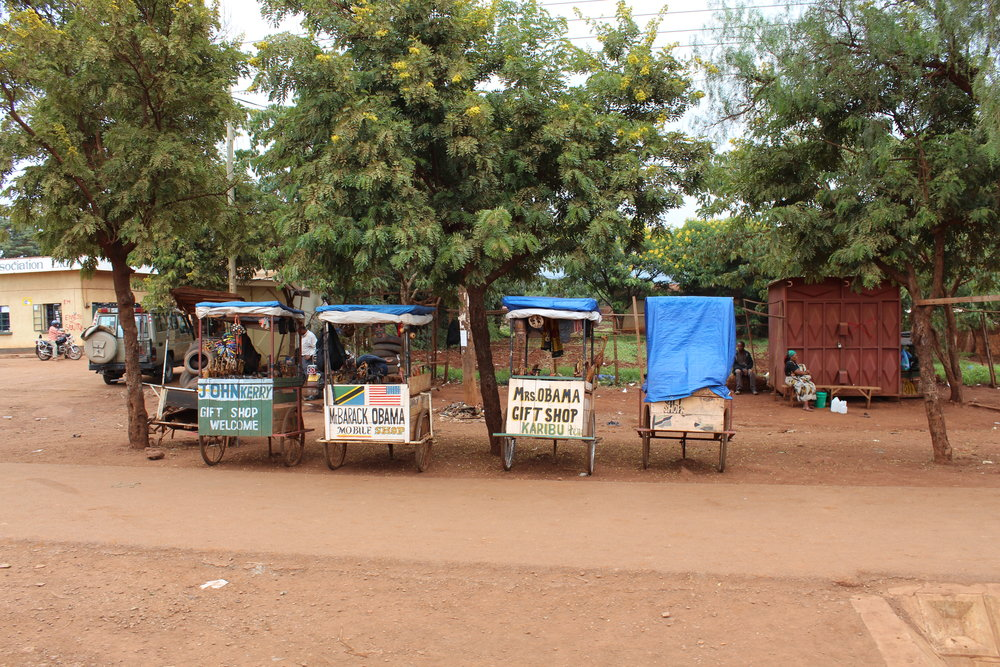 Funny presidential carts in Tanzania. They were obsessed with Obama!