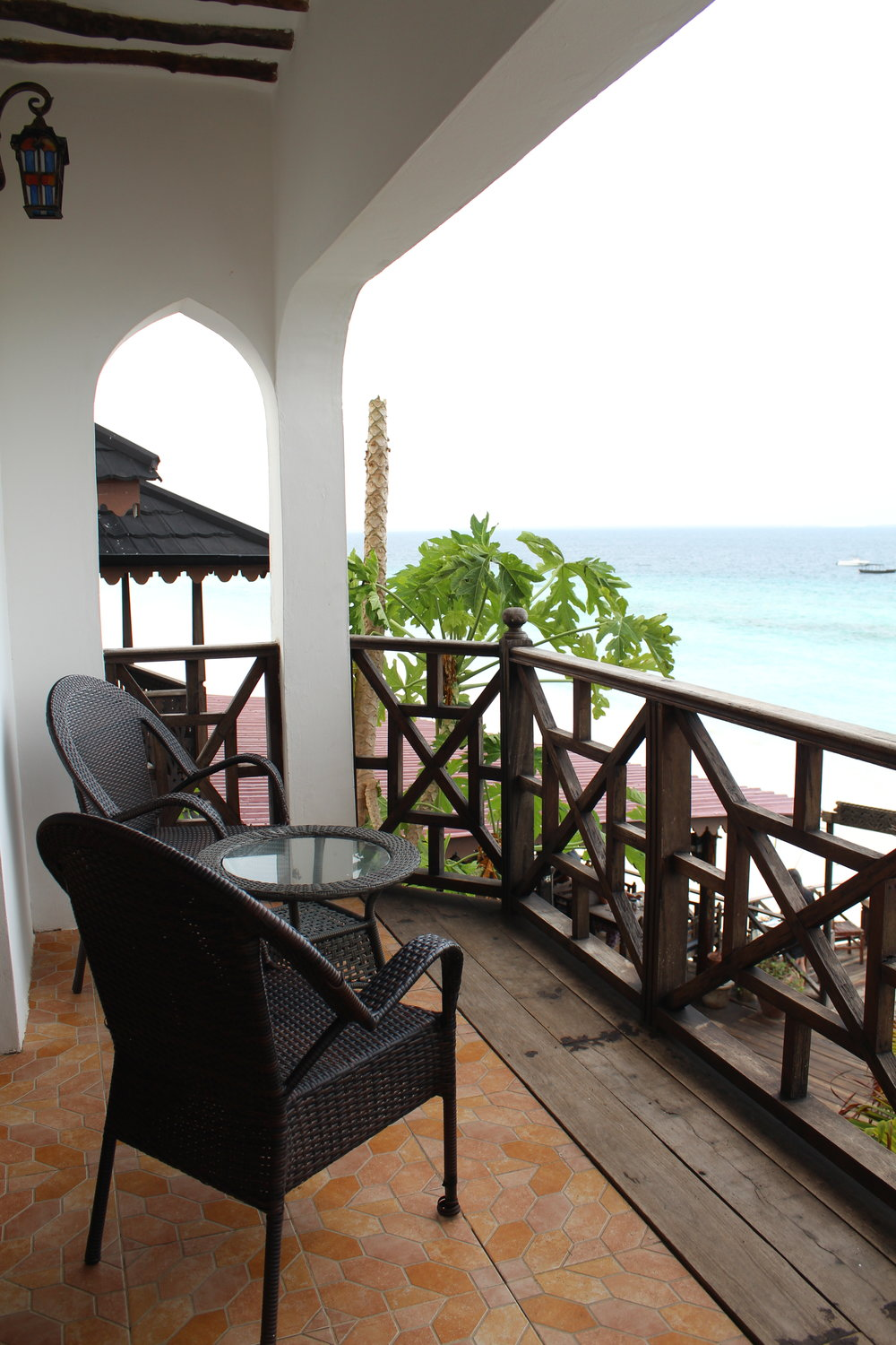 Porch with a view at Langi Langi Beach Bungalows