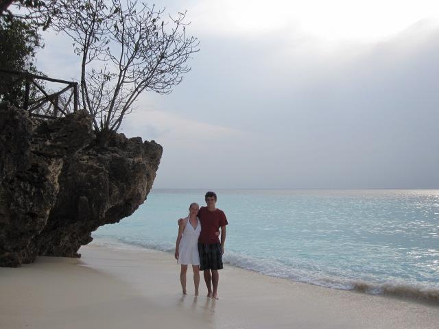 Romantic walk on the beach in Kwenda, Zanzibar.