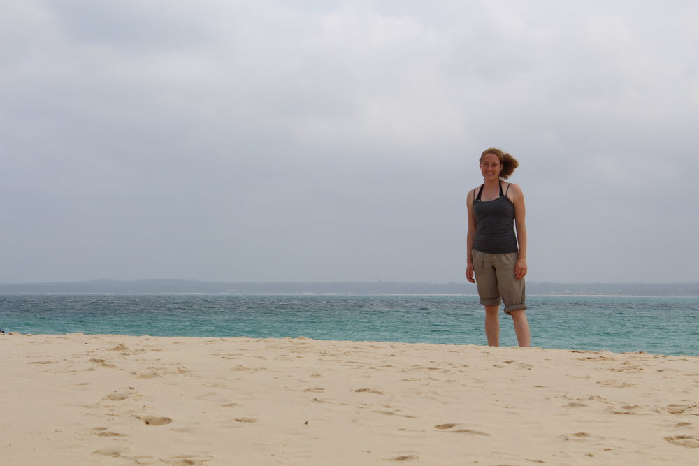 Beach on Prison Island
