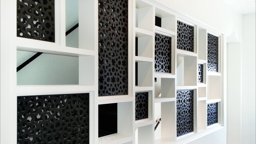 Panama City Beach, FL - Alys Beach Construction  Arabic Geometric, Decorative wall