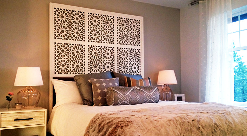 Richmond, BC - Bari Design  Star Pattern, Headboard