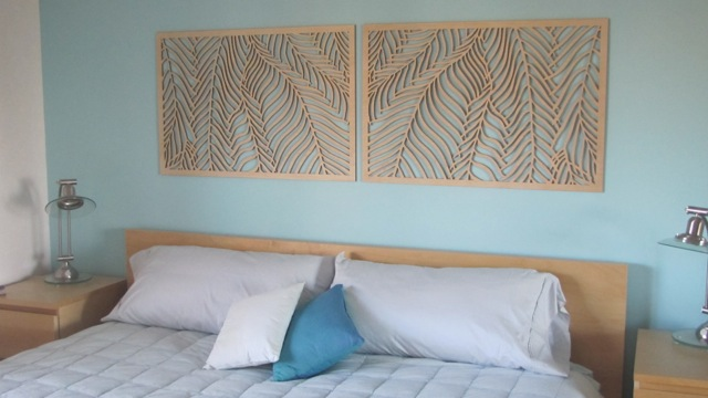 Wispy Palms, Headboard art panels