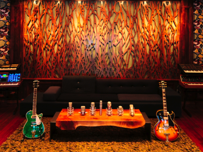 Ramon Bual Sound Studio, Houston, TX   Custom art wood panels