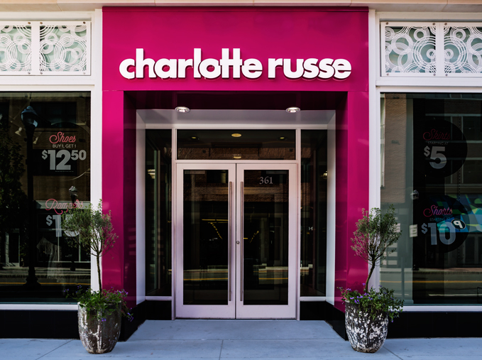 Charlotte Russe, Commonwealth Builders, Assembly Row, Quincy, MA   Rain on Water, Painted outdoor panels