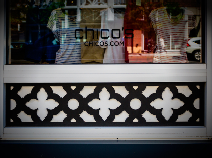 Chico's, Commonwealth Building, Carters, Assembly Row Storefronts, Quincy, MA     Swift Grille, Outdoor accent panels