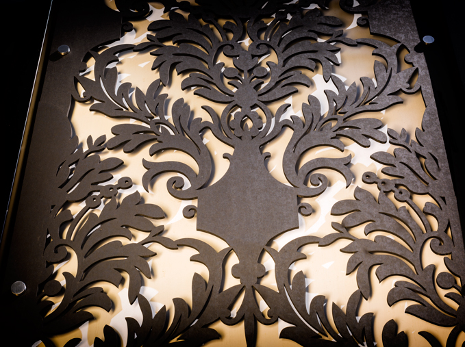 Laser cut detail - outdoor material