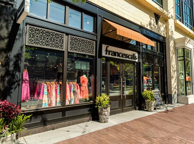 Francesca's Storefront, College Town Glass, Bridgewater, MA   Custom pattern, Outdoor decorative panels