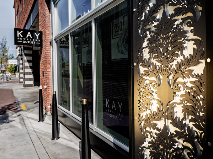 Kay Jewelers   Outdoor decorative panels