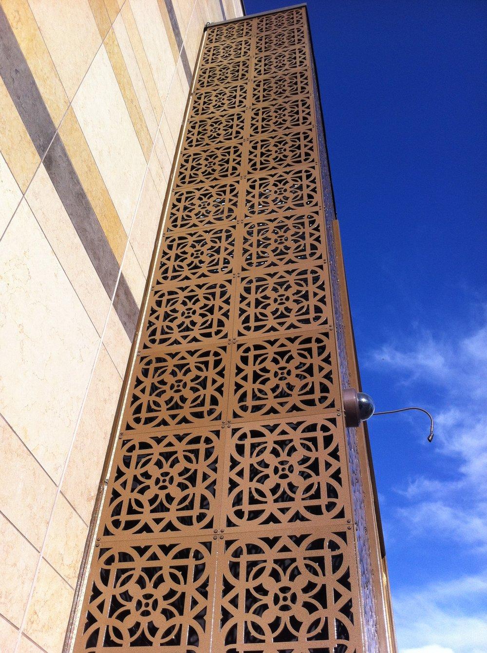 Palo Alto Mosque   Custom pattern, metal outdoor panels