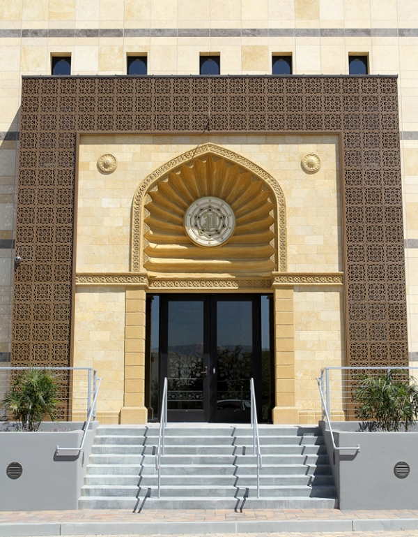 Palo Alto Mosque   Custom pattern, metal outdoor panels