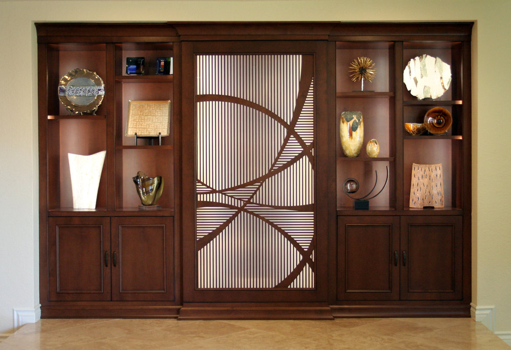 Vicki Blakeman Interiors  Custom pattern,  Cabinet door panel
