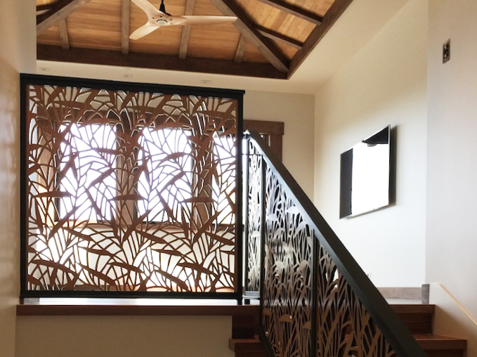 Residence, Ventura, CA - Chris Moore  Japanese Bamboo, Stairwell railing