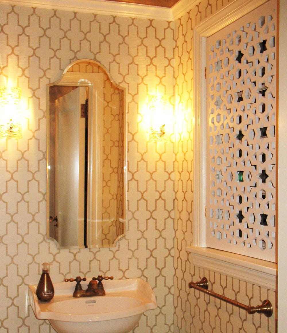 New York City, NY - Catherine Ebert Interiors  Arabic Geometric, Window screen