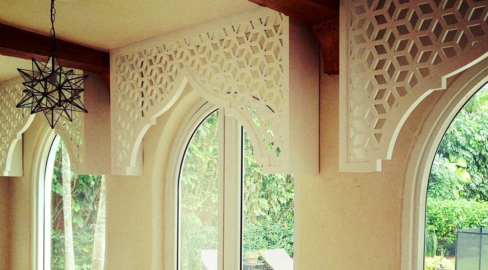 Residence, Miami FL - Trace Design Studio  Casablanca, Painted window valance