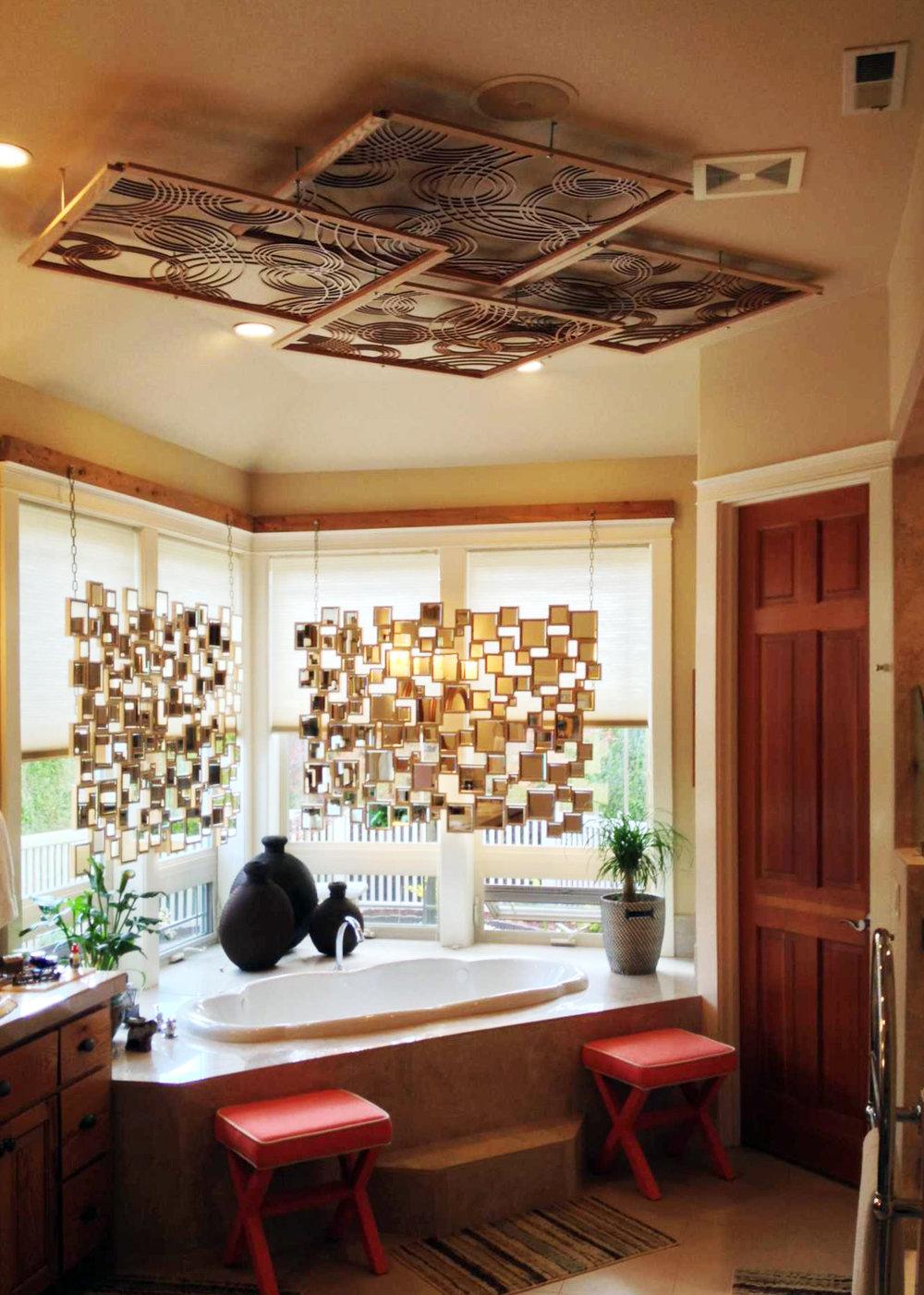 Residence, Battle Gound, WA   Rain on Water, Ceiling panels