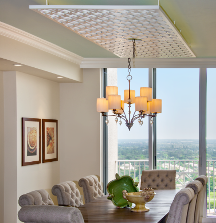 Residence, Naples, FL - Wright Interiors  Japanese Circles Thick, Painted ceiling panels