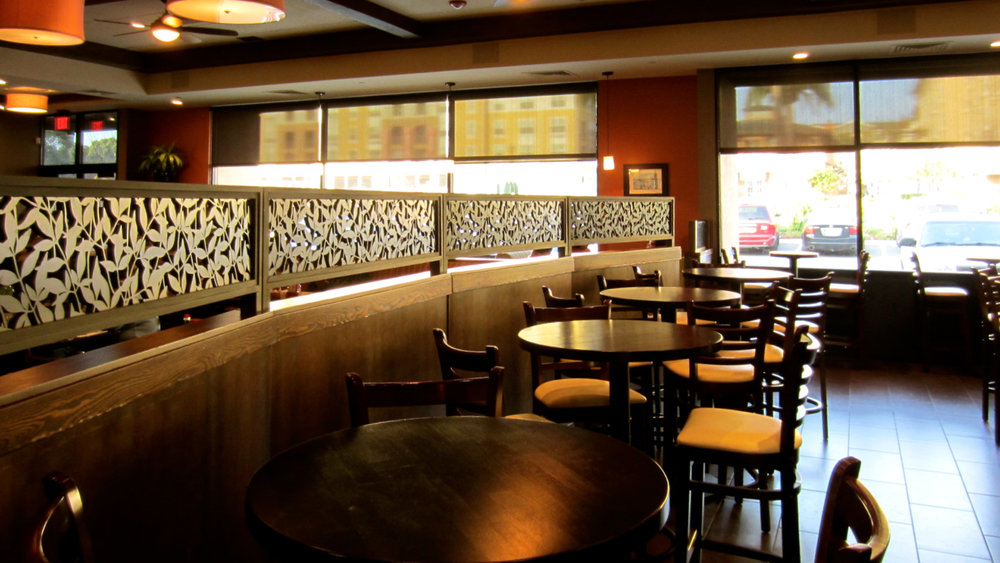 Jack's Restaurant, San Francisco, CA - Bellusci Design  Heavenly Bamboo, Booth partitions
