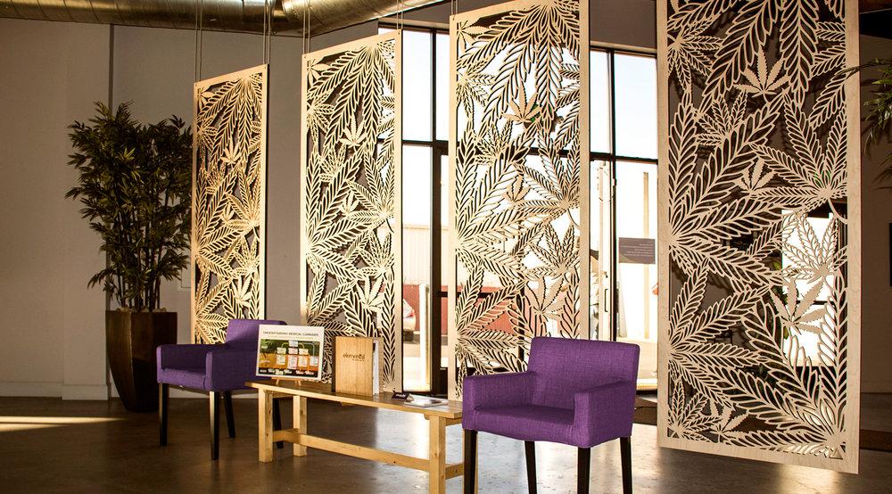 Elemental Wellness, San Jose, CA   Custom panel, Wall partition