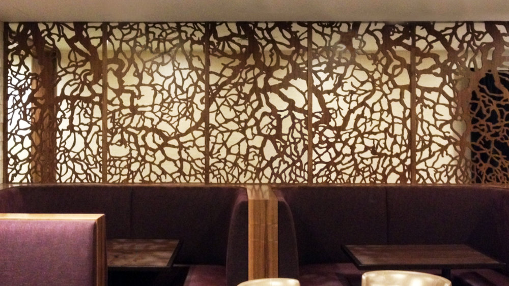 Mariott Quorum, Dallas, TX   Branches, Booth wall partitions