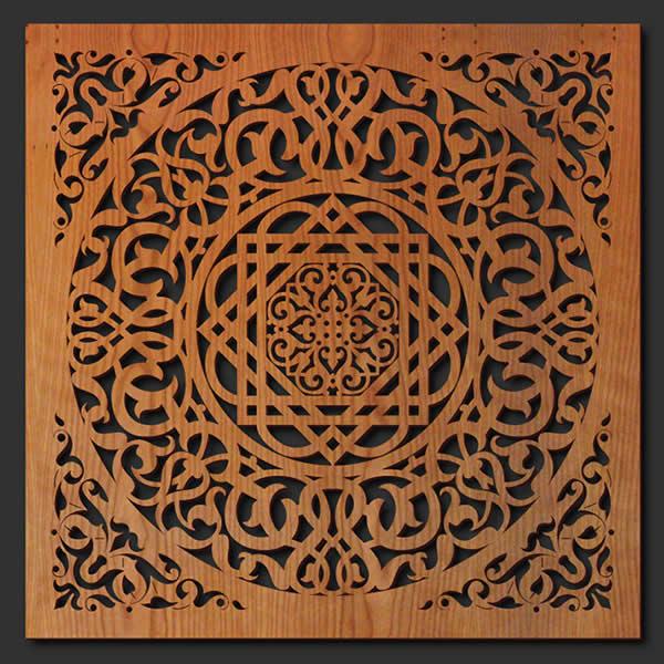 Persian Ornament Wood Wall Art Lightwave Laser