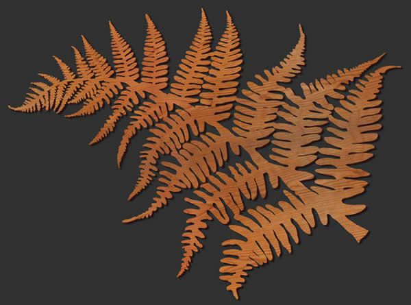 Fern Leaf Wood Wall Art — Lightwave Laser