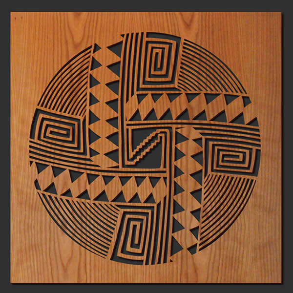 Native American Wood Wall Art Lightwave Laser