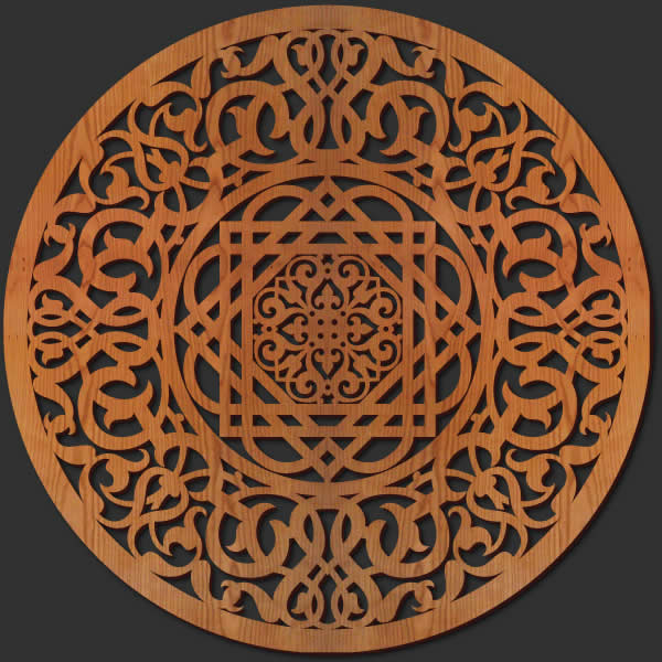 Wood Medallion Wall Decor wall art — lightwave laser