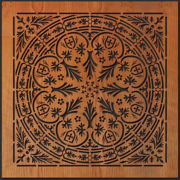 Spanish Tile Wood Wall Art Lightwave Laser