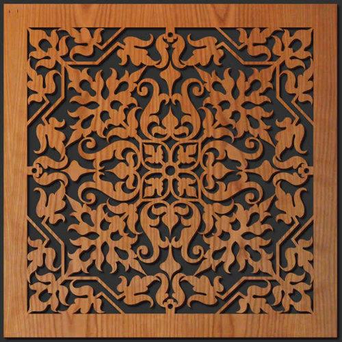Fantastic Tapestry Detail Wood Wall Art — Lightwave Laser BN58