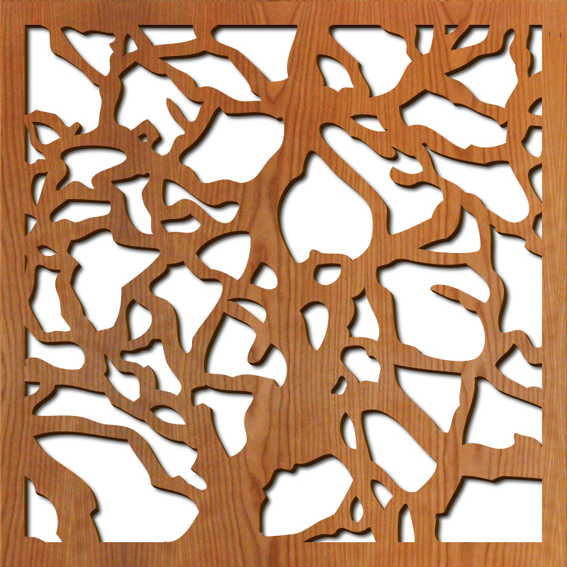 """Branches pattern at 23"""" x 23"""" scale"""