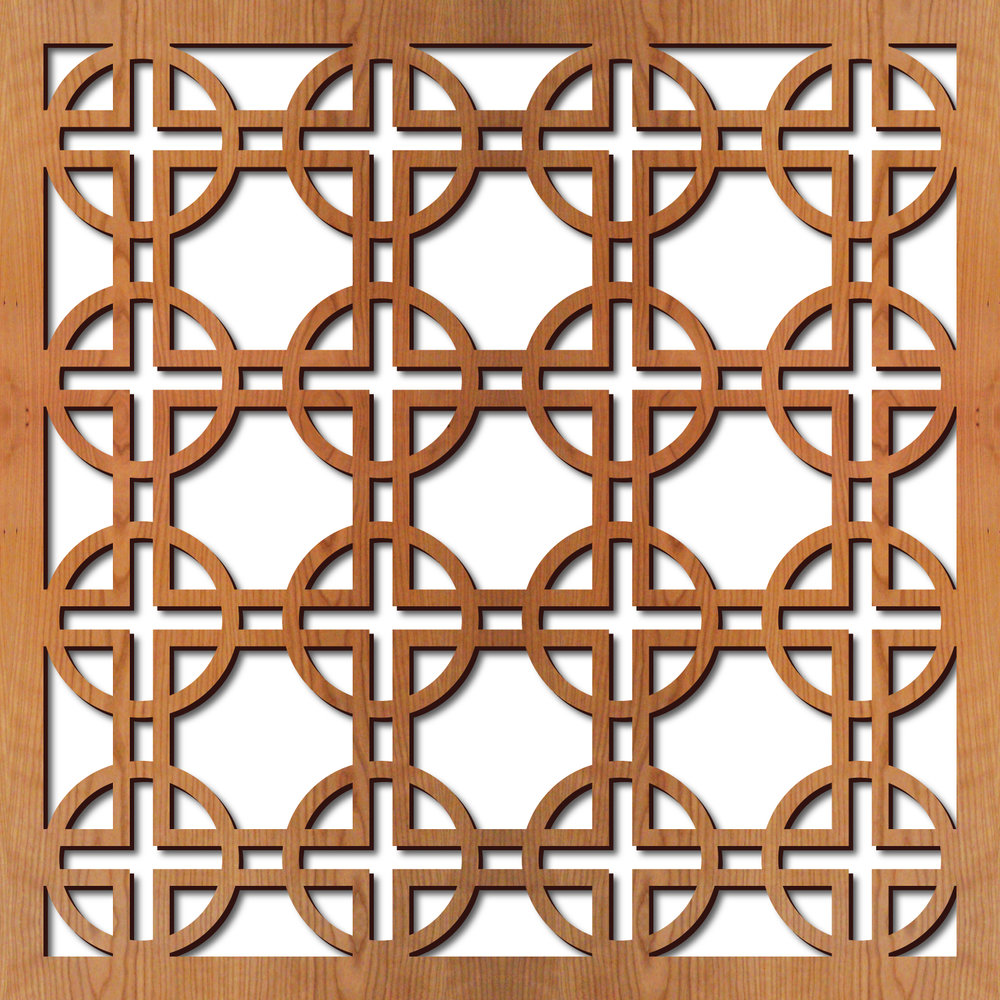"""Circles Square pattern at 23"""" x 23"""" scale"""