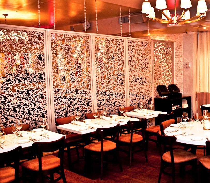 MPD Restaurant, New York, NY   Crocus Spirals pattern, room divider