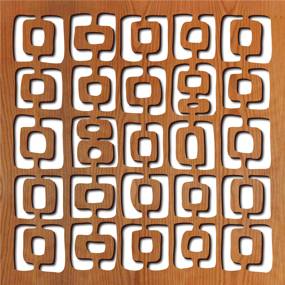 """Dallago pattern at 23"""" x 23"""" scale"""
