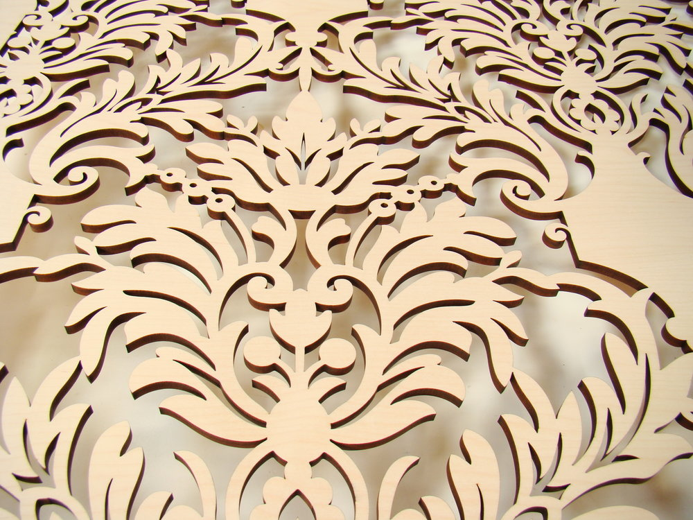 Damask pattern detail