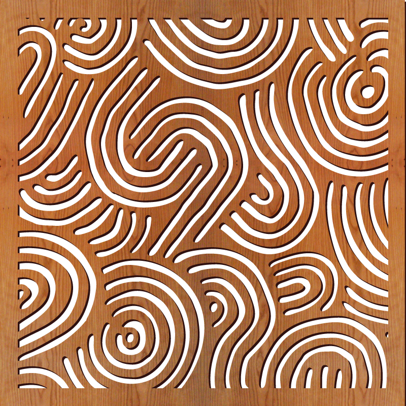 "Deco Swirls pattern at 23"" x 23"" scale"