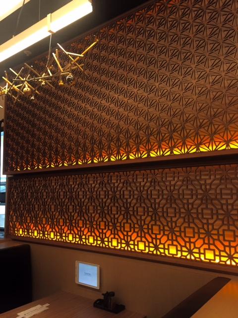 Dragon Claw, backlit wall panel