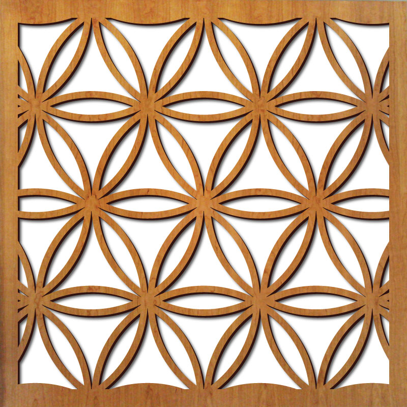 """Flower of Life pattern at 23"""" x 23"""" scale"""